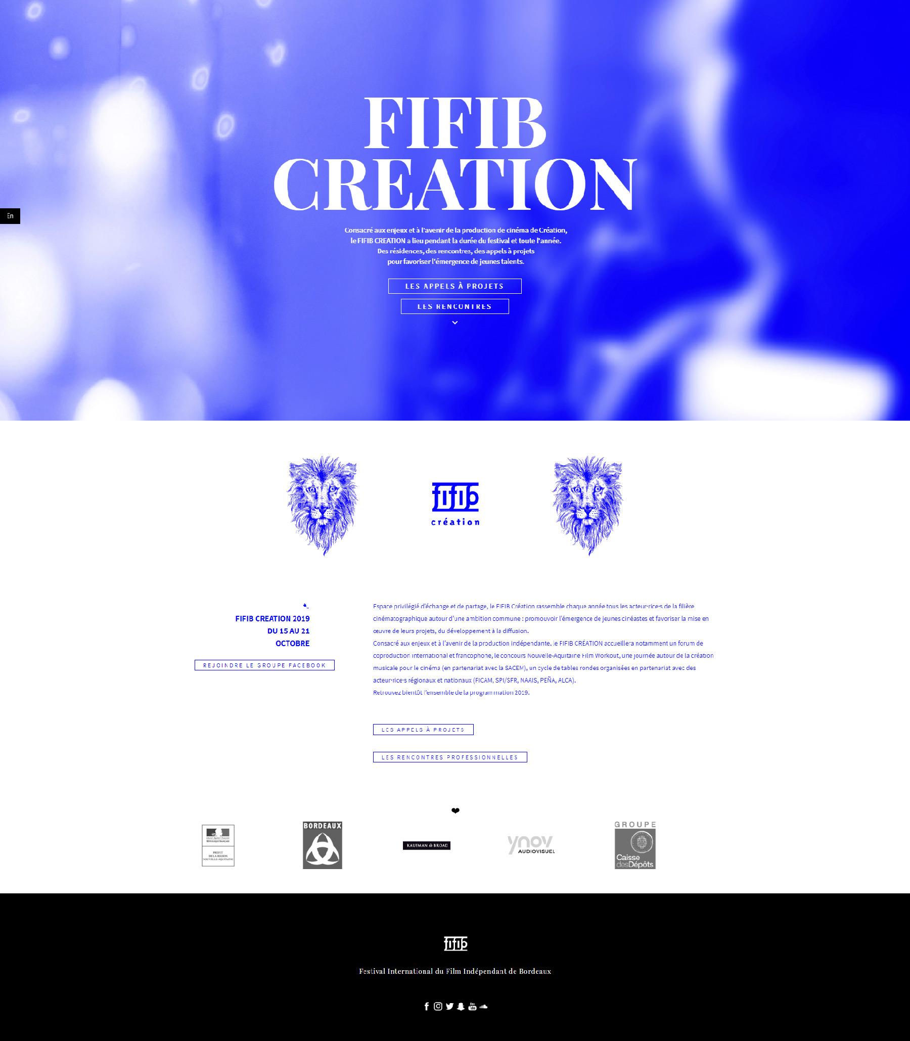 creation site internet festival bordeaux