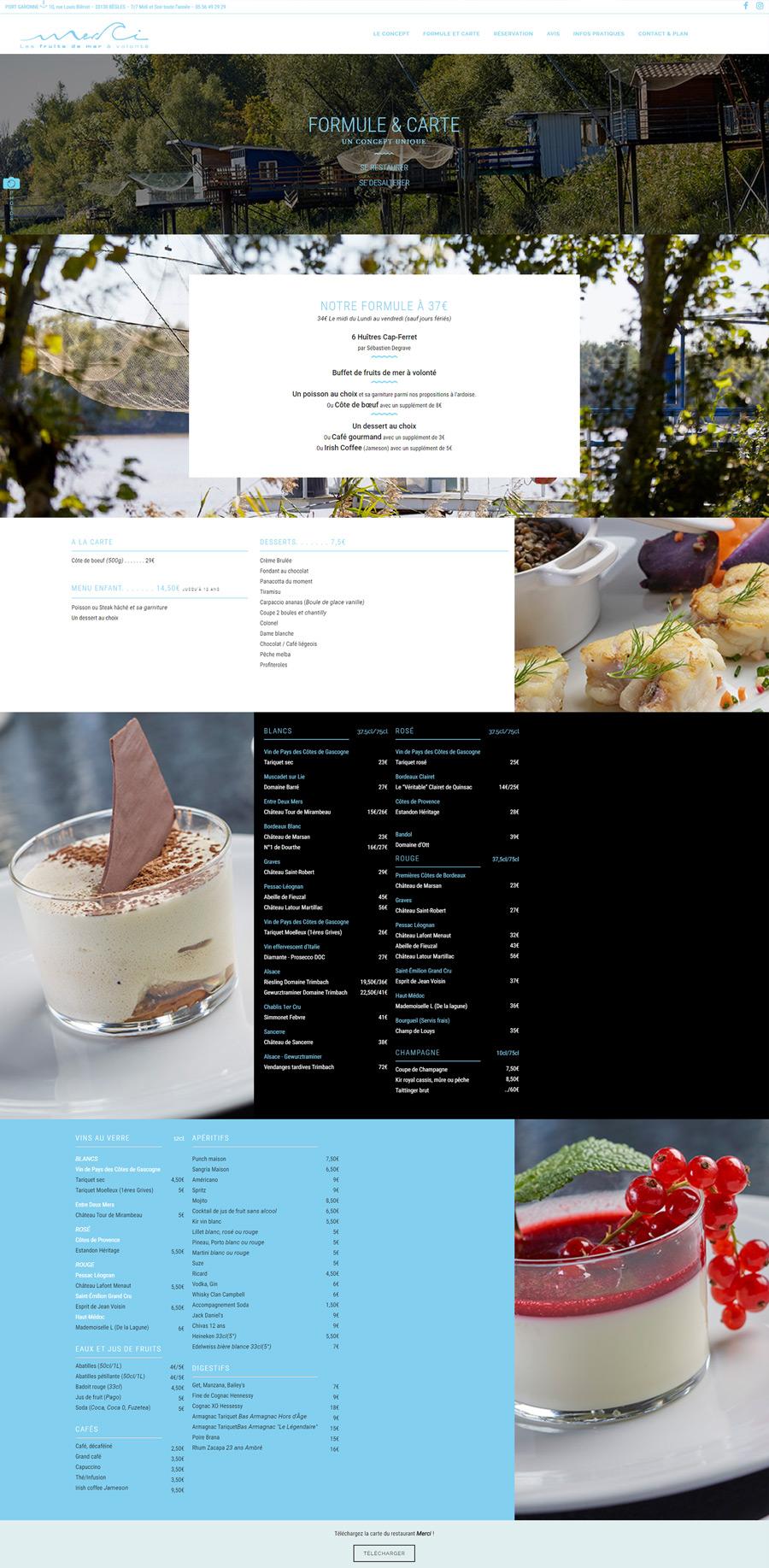 creation site internet restaurant bordeaux