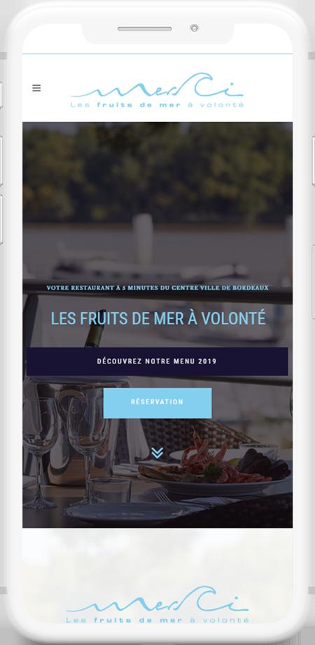 web mobile restaurant