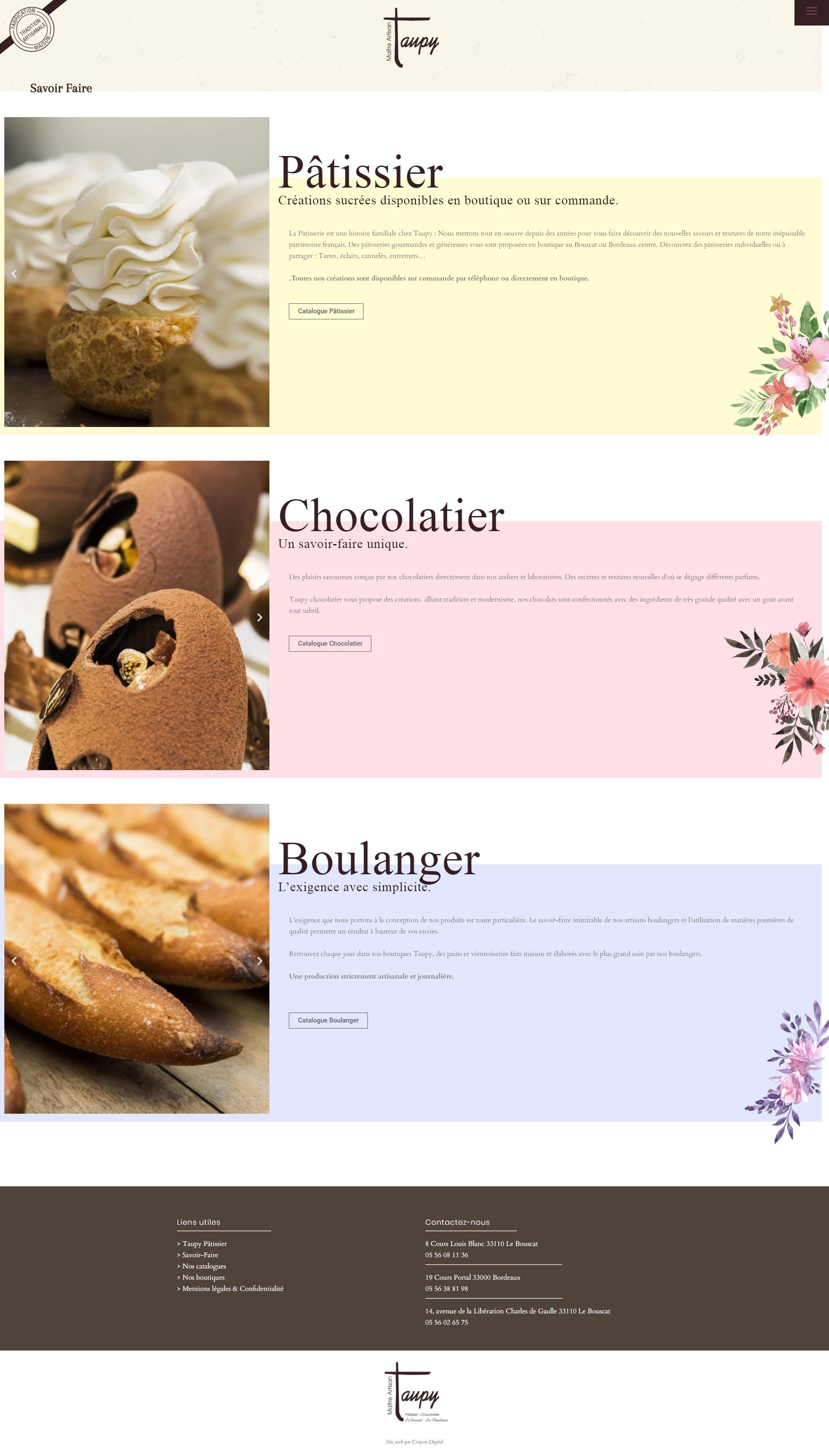 site internet chocolatier bordeaux