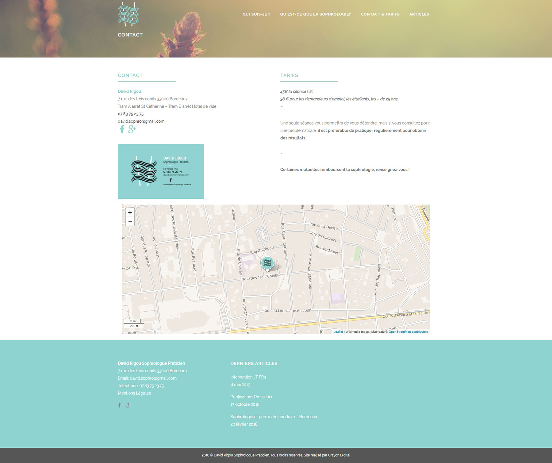 sophrologue site internet