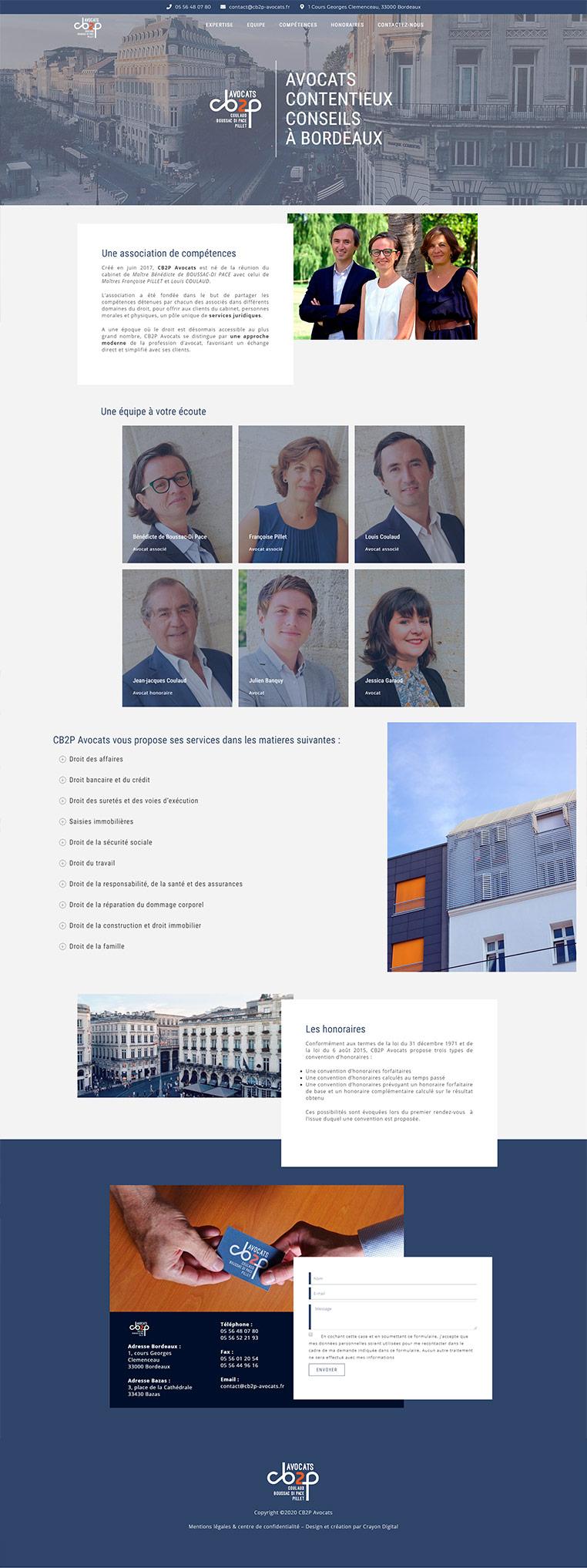 creation site web bordeaux avocats
